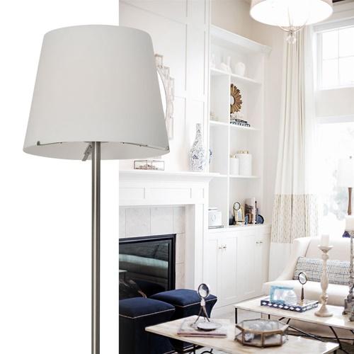 Moderne vloerlamp Calabro nikkel glas