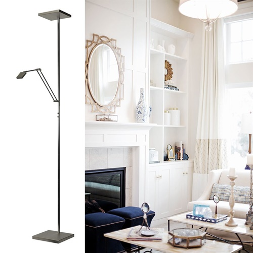 Vloerlamp/uplighter LED Denia dimbaar