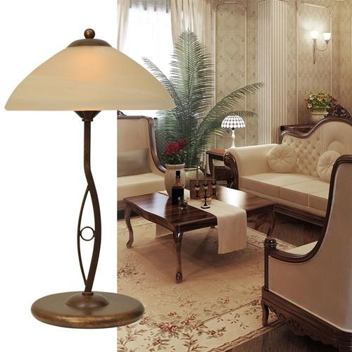 Klassieke tafellamp Bolzano bruin