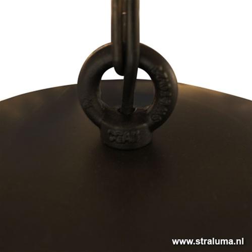 Hanglamp koepel 80cm gunmetal/silverleaf