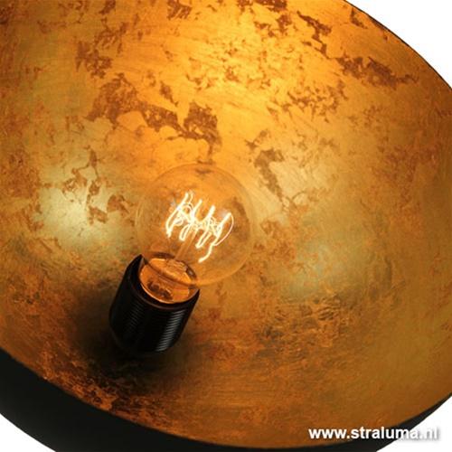 Tafellamp koepel 'Gun Metal' met goud