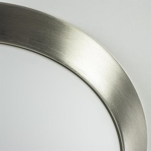 Moderne plafonnière staal en glas