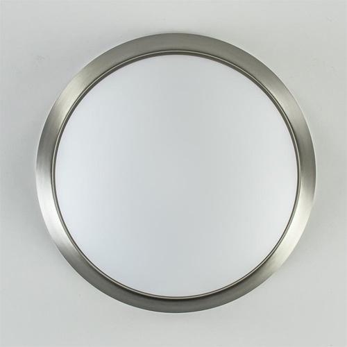 Plafonnière modern met staal en glas