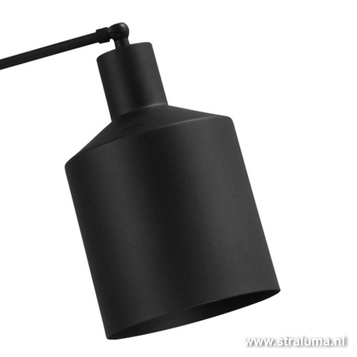 Moderne zwarte vloerlamp scandinavisch