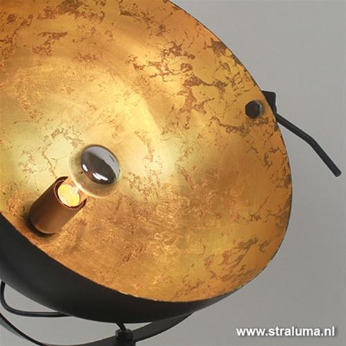 Tafellamp Larino gunmetal/goldleaf 30cm