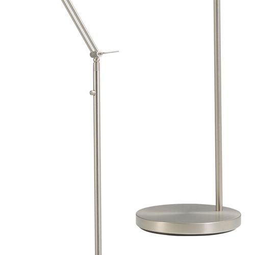 Moderne leeslamp nikkel met dimmer