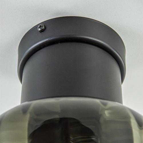 Luxe plafondlamp met zwart glas