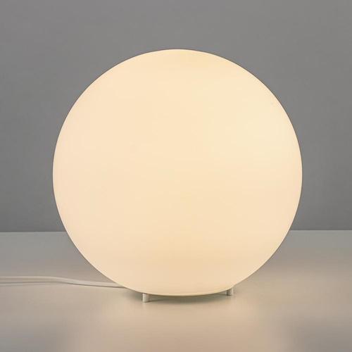 Ronde tafellamp opaal glas 30 cm
