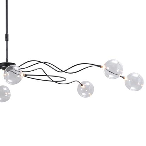 Sierlijke LED hanglamp met helder glas dimbaar