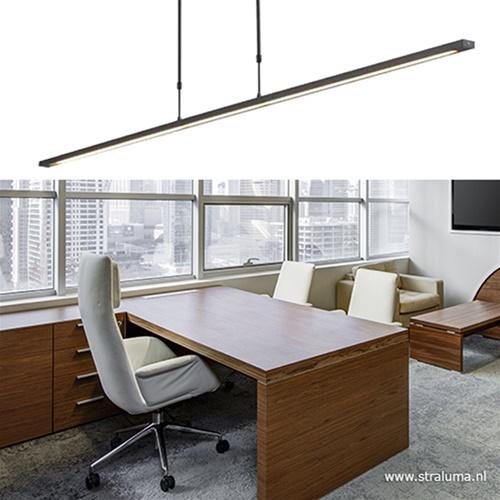 Hanglamp balk zwart 160cm direct led