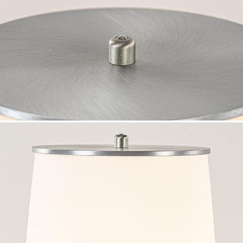 Vloerlamp Terra nikkel/wit glas dtw