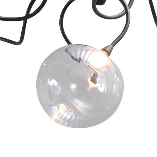 Strak klassieke plafondlamp LED met helder glas