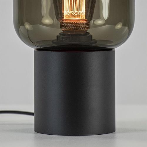 Tafellamp Lett zwart + smoke glas 13cm