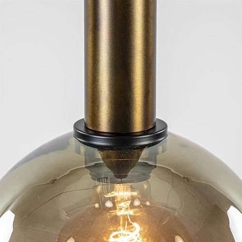 Videlamp Bella 5L rond zwart/brons+smoke