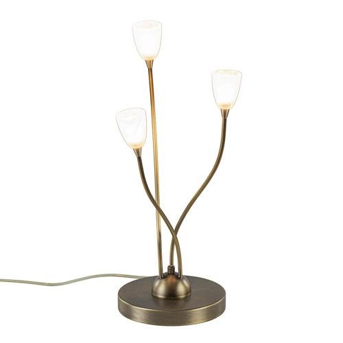 Klassieke LED tafellamp brons met dim to warm functie