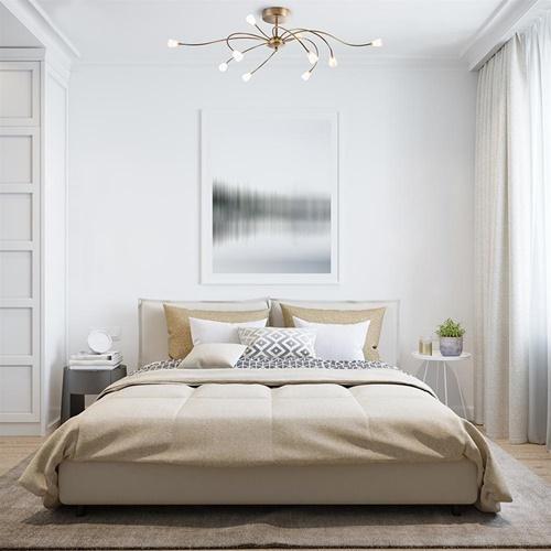 Ovale plafondlamp brons inclusief LED dim to warm