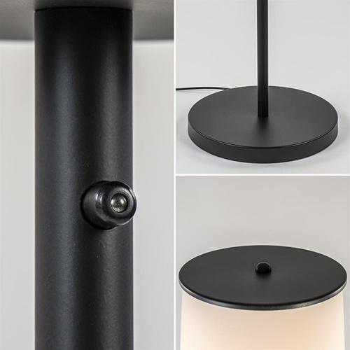 Moderne design vloerlamp zwart met opaal glas dim to warm