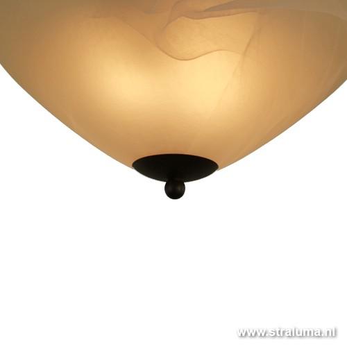 klassieke plafondlamp rond slaapkamer straluma