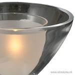 *Moderne tafellamp Caterina nikkel