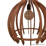 *Trendy houten hanglamp lamellen