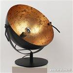 Chique tafellamp spot gunmetal met goud