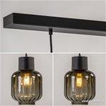 Luxe 3-lichts hanglamp glas grijs/zwart