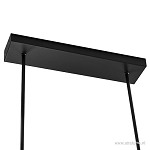 **Zwarte LED hanglamp met dimmer