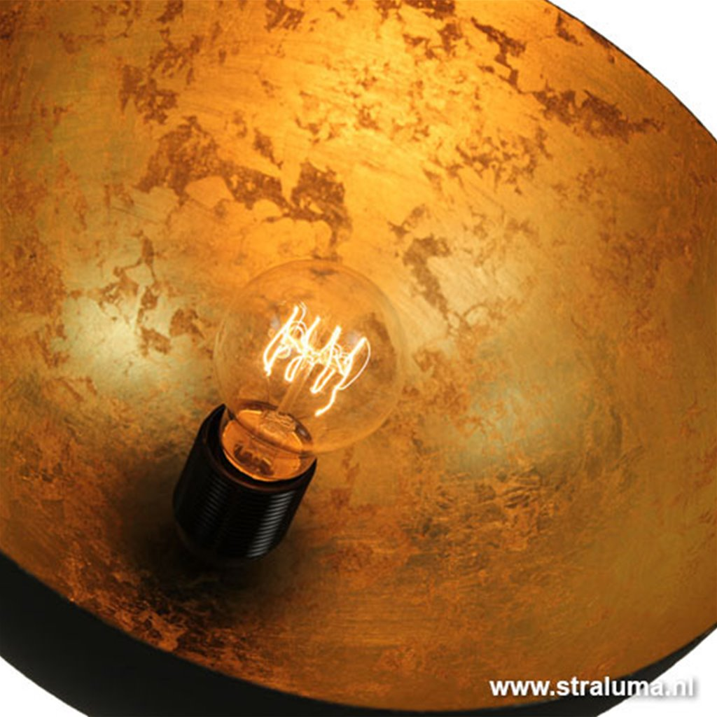 Koepel tafellamp binnenkant goud