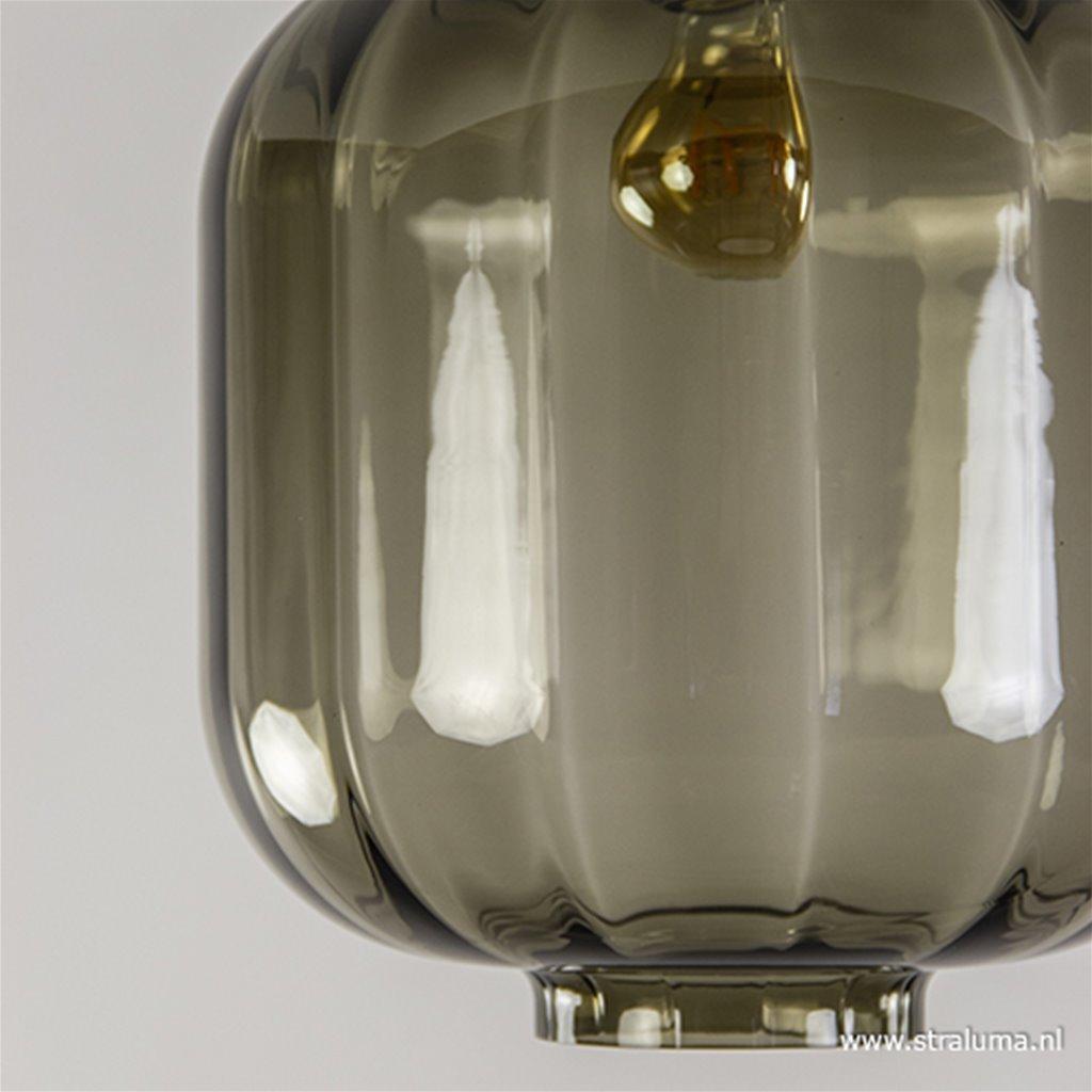 Zwart glazen plafondlamp luxury