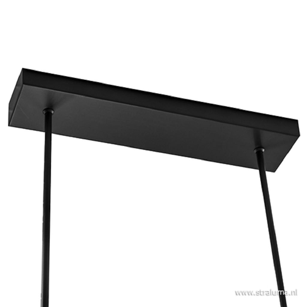 Moderne LED hanglamp zwart dimbaar
