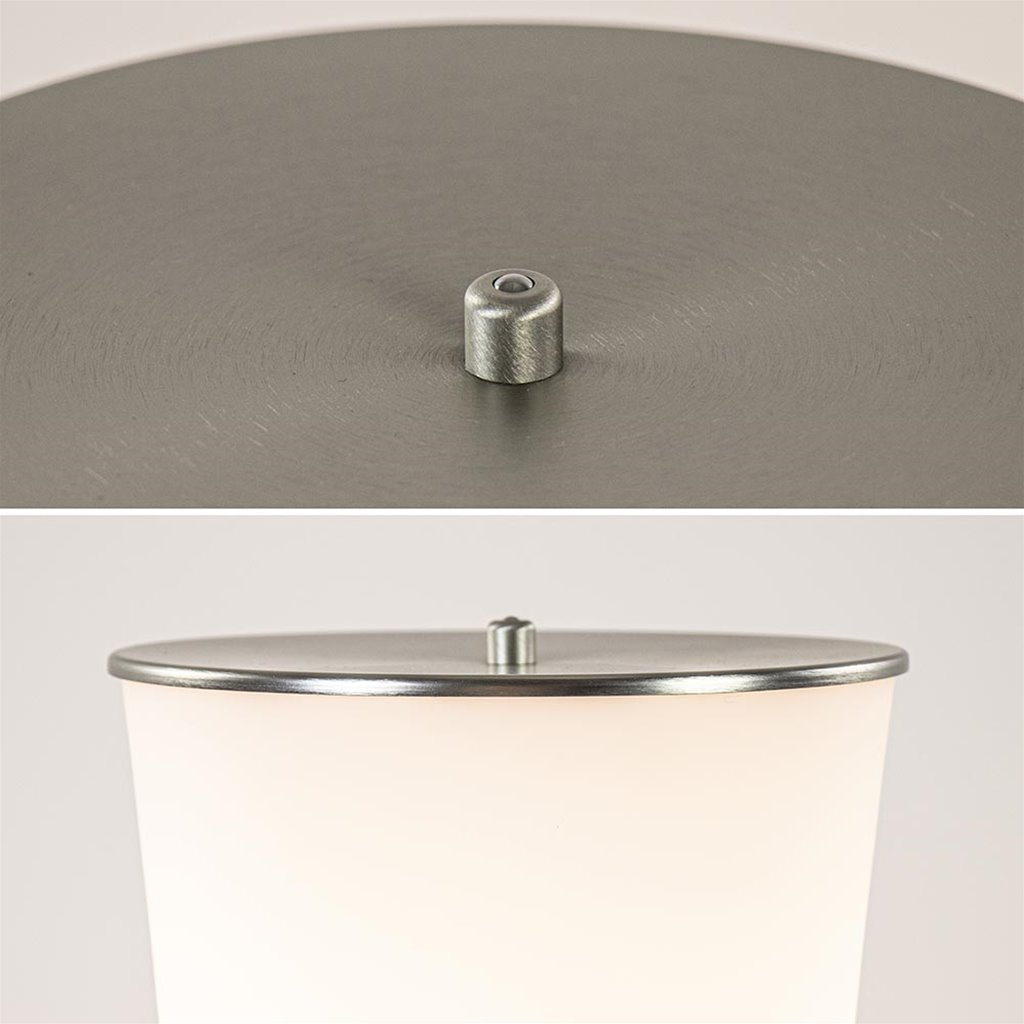 Moderne LED vloerlamp opaal glas met dim to warm