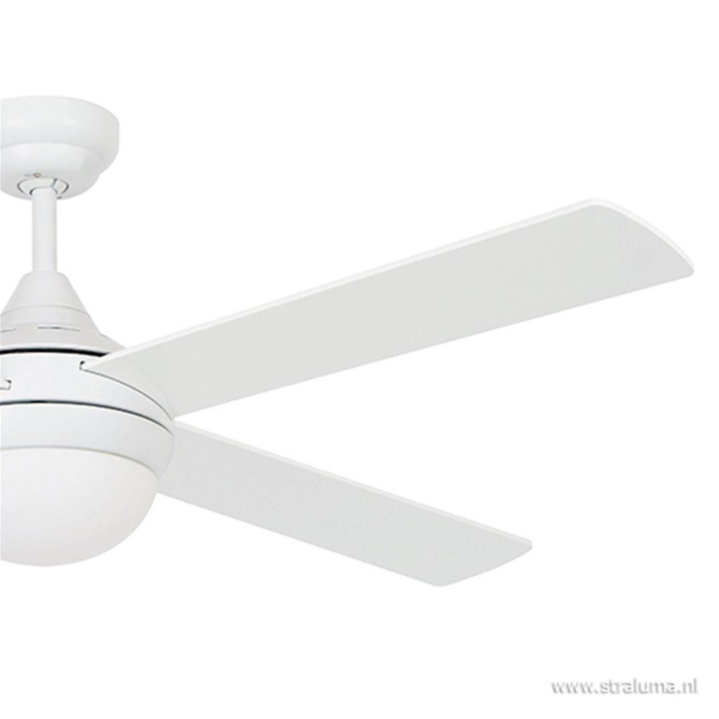 Witte plafondventilator met lamp+remote