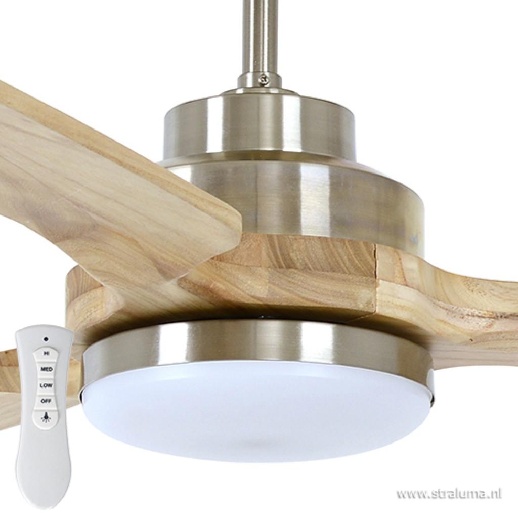 Ventilator essenhout met staal incl. LED