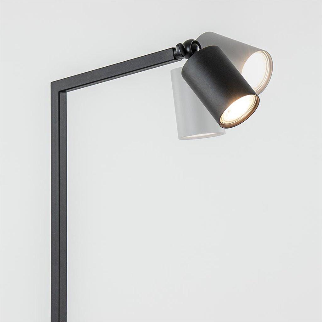 Moderne leeslamp mat zwart met verstelbare kap