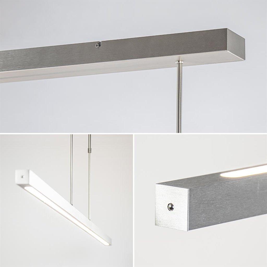 Aluminium LED hanglamp nikkel mat inclusief dimmer