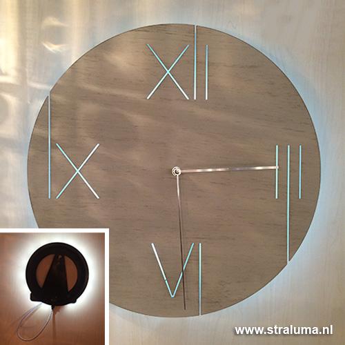 Wandklok creme-wit metaal woonkamer hal | Straluma