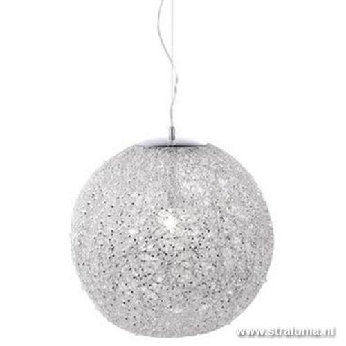 hanglamp modern aluminiumchroom bol