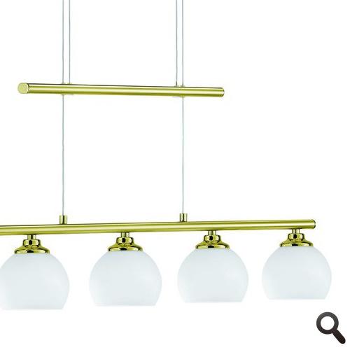 Hanglamp LED messing eettafel