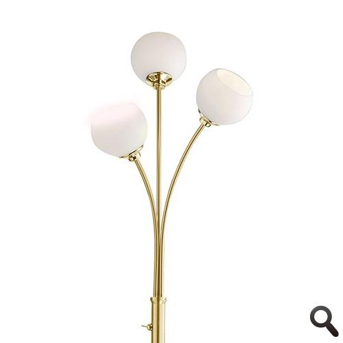 Klassieke vloerlamp LED messing