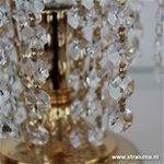 *Klassieke messing tafellamp kristal