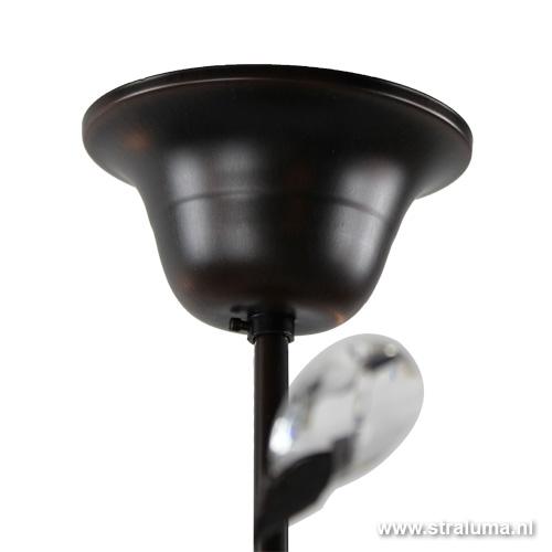 mooie plafondlamp bruin zwart woonkamer straluma