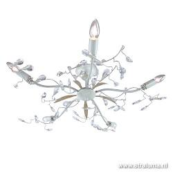 Italiaanse plafondlamp kristal creme