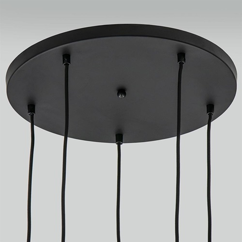 Hanglamp 5L Onion rond zwart