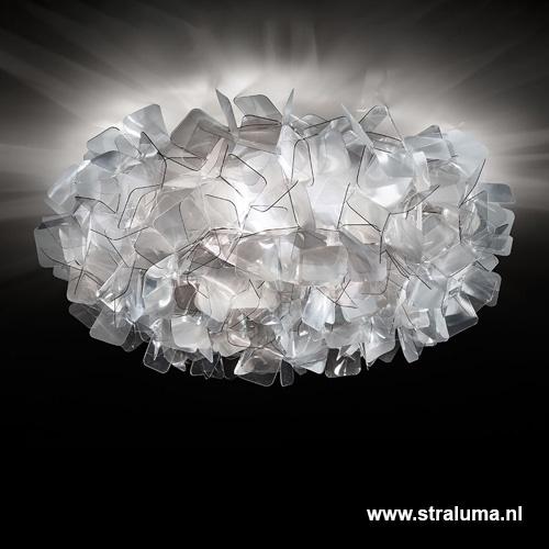 **Plafondlamp Clizia 78cm fumé