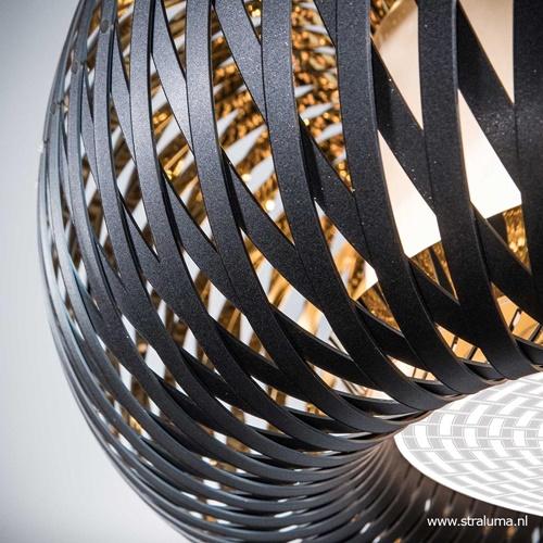 Plafondlamp Kalatos zwart/goud