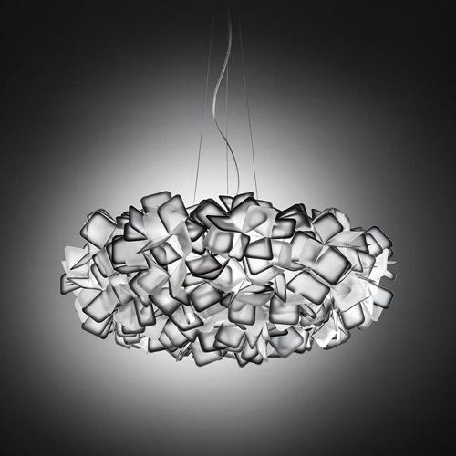 Grote design hanglamp Clizia zwart