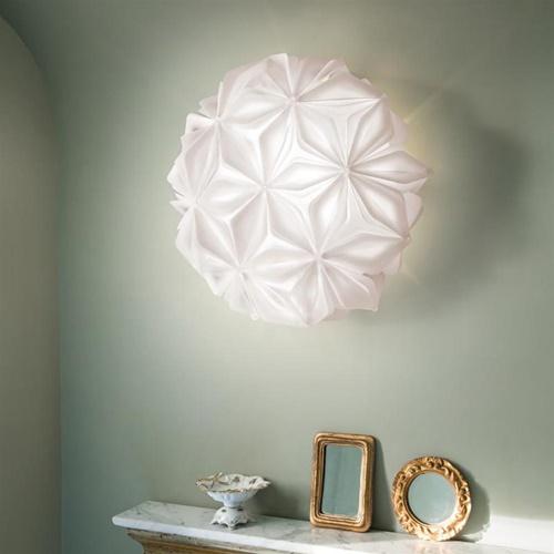 Witte design plafond/wandlamp La Vie