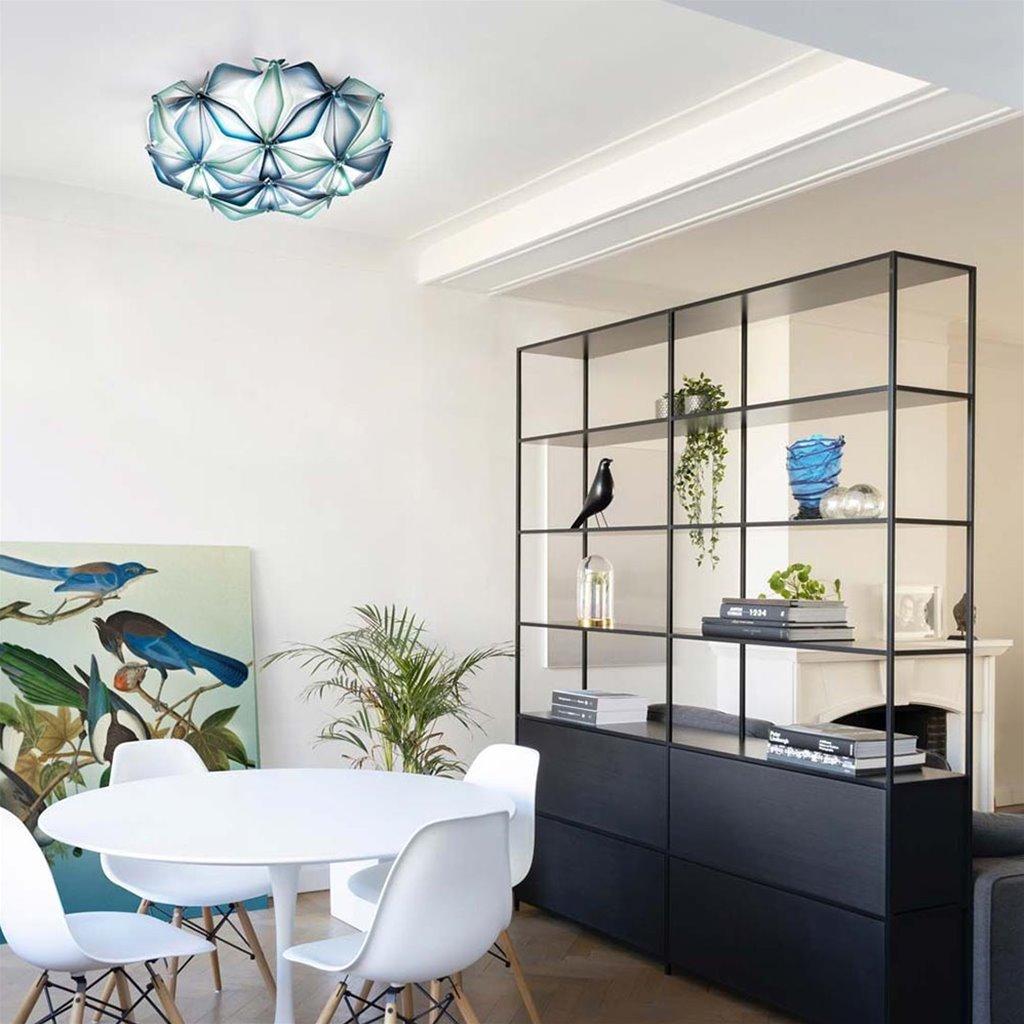 Moderne plafondlamp La Vie blauw