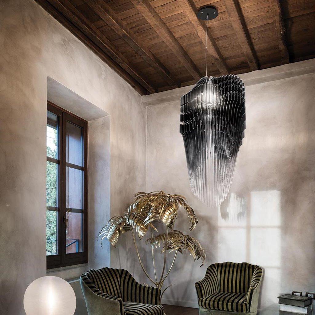 Grote design hanglamp vide zwart
