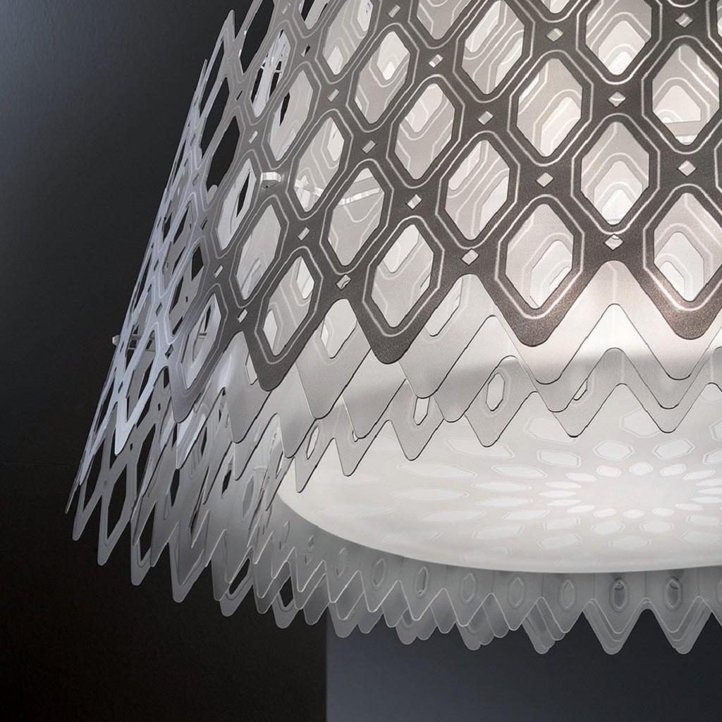 Design hanglamp wit groot 79 cm